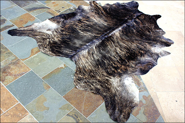 S036 hilason hair on leather pure brazilian cowhide skin for Cowhide rug houston
