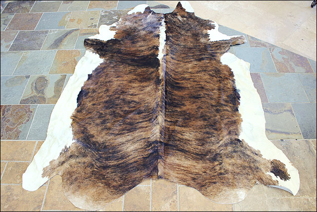 S41 hilason hair on leather pure brazilian cowhide skin for Cowhide rug houston